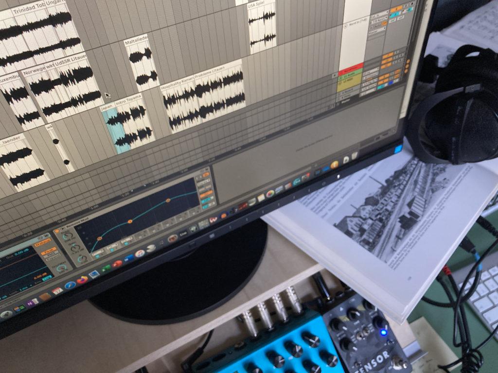 Bildschirm mit Audioprogramm